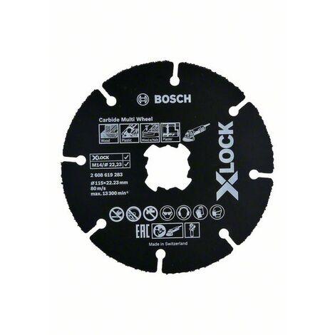 Bosch 2608619283 Disco de corte X-Lock Carbide Multiwheel 115mm 115mm 1 mm 22,23 mm para amoladoras