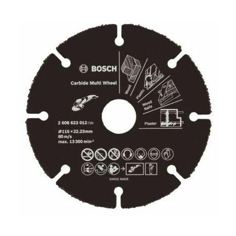 BOSCH 2608623012 Disco multimaterial carburo: 115 x 22.4m