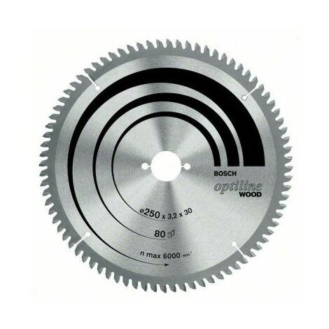 Bosch 2608640443 Disco de sierra circular Optiline Wood 254x2,8x30D 40WZ