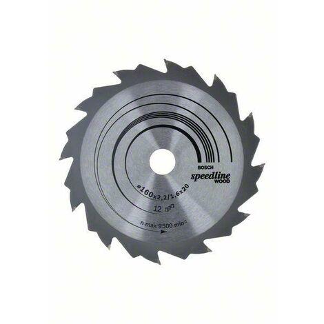 Bosch 2608640680 Lame de scie circulaire Speedline Wood 24 dents 250 x 30 x 3,2 mm