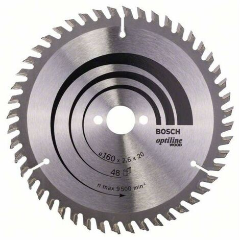 Bosch 2 608 640 630 160 x 20//16 x 2,6 mm, 12 Hoja de sierra circular Construct Wood