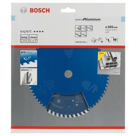 BOSCH 2608644095 Sierra circular Expert Aluminium 165 x 20 x 2,6 mm 52
