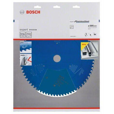 Bosch 2608644284 - Lame de Scie Circulaire Expert pour Stainless Steel, 305 x 25,4 x 2,5 mm, 80D