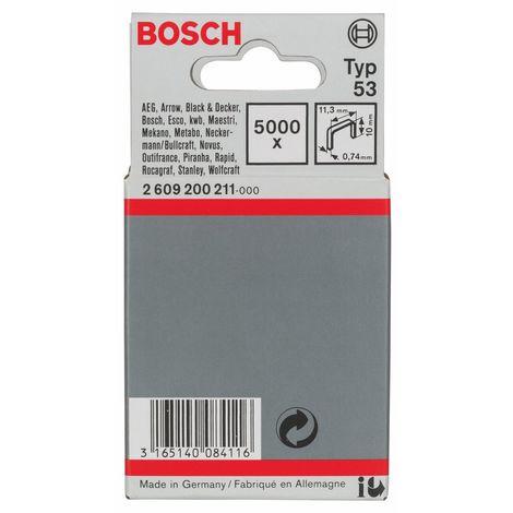 Bosch 2609200211 - Graffette a filo fine tipo 53, 11,4 x 0,74 x 10 mm