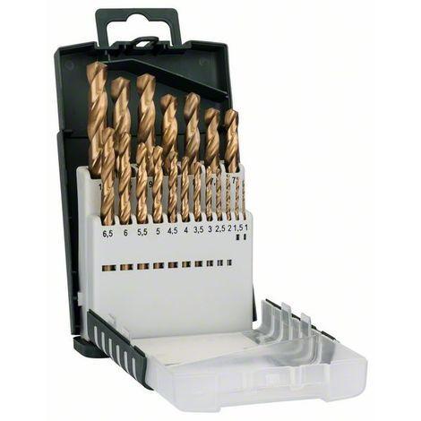 BOSCH 2609255134 Set de 19 brocas HSS Titanio: Gripbox