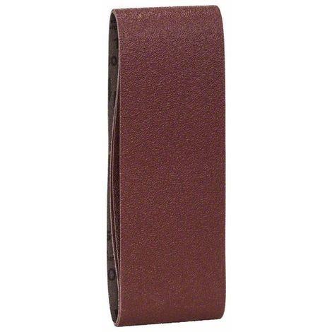 BOSCH 2609256209 Set 3 lijas lijadora banda, calidad roja G= 60, 80, 100