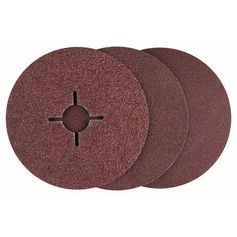 BOSCH 2609256248 Set 12 discos lijadores fibra amoladora , corindón Ø 115