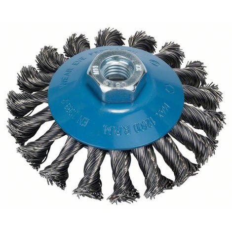 BOSCH 2609256511 Cepillo cónico amoladora, alambre trenzado, 100 D= 100