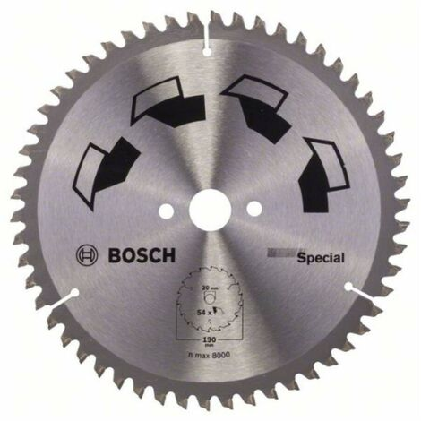 Bosch 2609256891 Disco de sierra circular Precision GS MU H 190x20-54