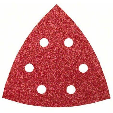 Bosch 2609256A53 Feuilles abrasives pour Ponceuses Delta Diamètre 93 mm Nombre de trous 6 Grain 240 Lot de 5 feuilles