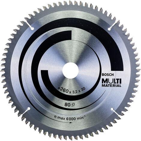 Bosch 260mm x 30mm x 80T Multi Material Circular Mitre/Table Saw Blade 2608641204