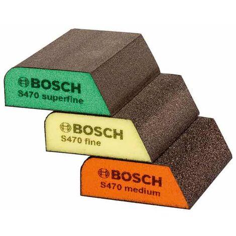 BOSCH 3 éponges abrasives S470 Best for Profile - 2608621252