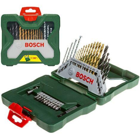 Bosch 30 Piece X-Line Mixed Titanium Drill Bit Set 2607019324 Wood Masonry Metal