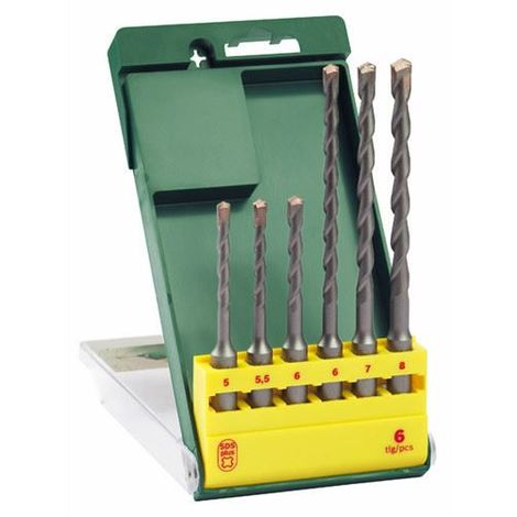 Bosch 6 Piece SDS-Plus S2 Drill Bit Set 2607019448