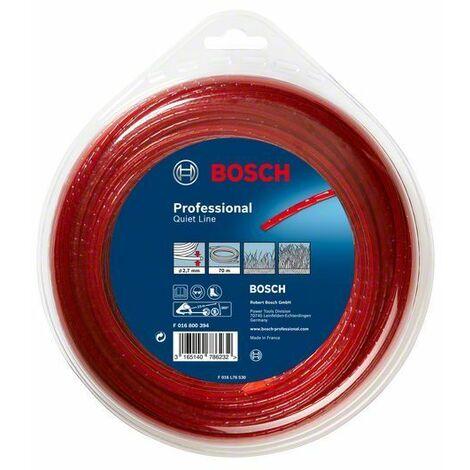 Bosch Accessoires pour débroussailleuses sans fil Fil de fauchage silencieux (2,4 mm x 90 m)