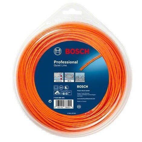 Bosch Accessoires pour débroussailleuses sans fil Fil de fauchage silencieux (2,7 mm x 70 m) - F016800394