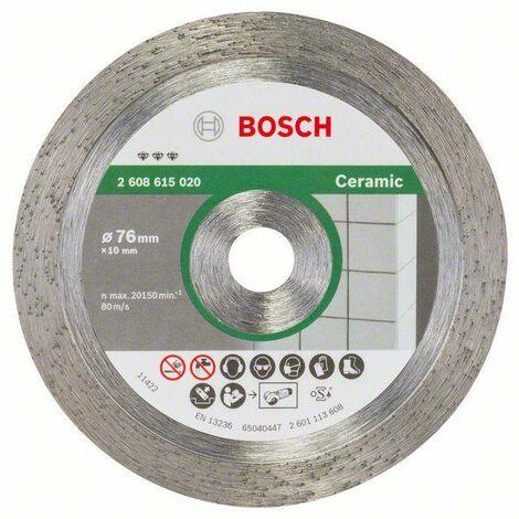 Bosch Accessories 2608615020 Disque à tronçonner diamanté Best for Ceramic, 76 mm, 1,9 mm, 10 mm Ø 76 mm 1 pc(s)