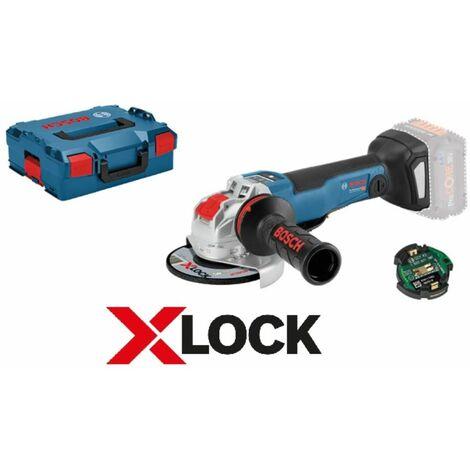 BOSCH Amoladora angular a batería con X-LOCK GWX 18V-10 SC module GCY 30-4   sin batería sin cargador en L-Boxx
