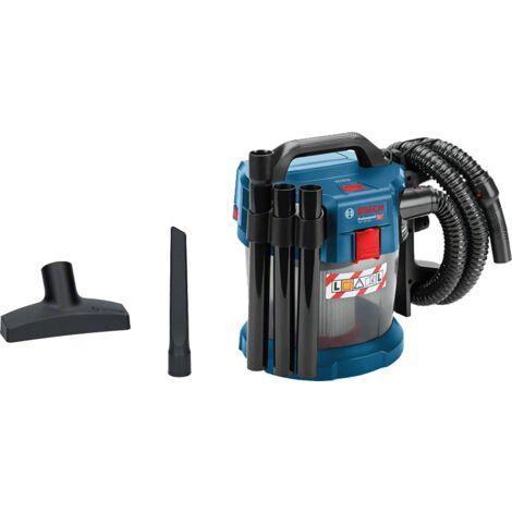 BOSCH Aspirateur sans fil GAS 18V-10 L eau et poussière 1 tuyau de 1,6 m 06019C6300 solo sans batterie ni chargeur