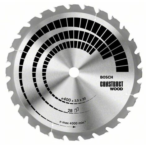 BOSCH Bau-Kreissägeblatt Construct Wood (HB) positiv