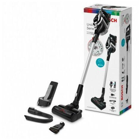 BOSCH BBS811PCK - Aspirateur balai multifonction sans fil Unlimited - 2 vitesses - 40 mn d'autonomie - Noir