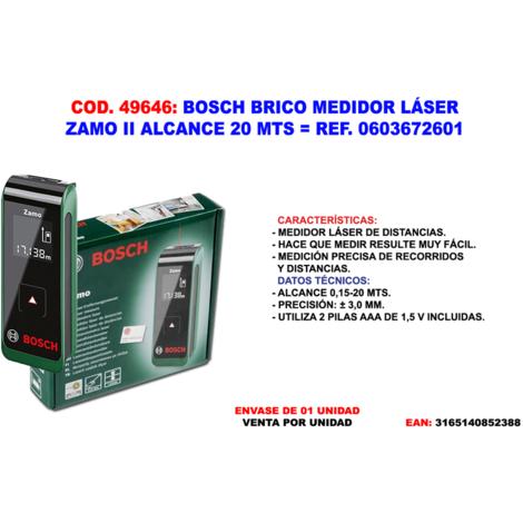 BOSCH BRICO MEDIDOR LASER ZAMO II ALCANCE 20 MT=0603672601