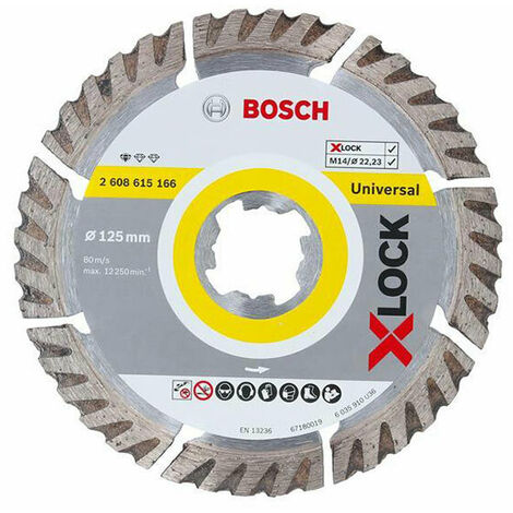 "main image of ""Bosch BSH615166 X-LOCK Standard Universal Diamond Disc 125 x 1.6 x 22.23mm"""