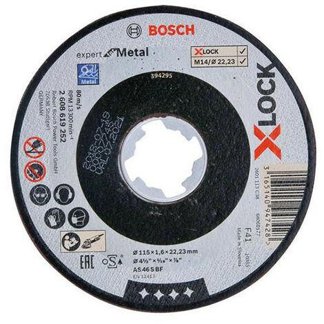 Bosch BSH619252 X-LOCK Expert for Metal Cutting Disc 115 x 1.6 x 22.23mm