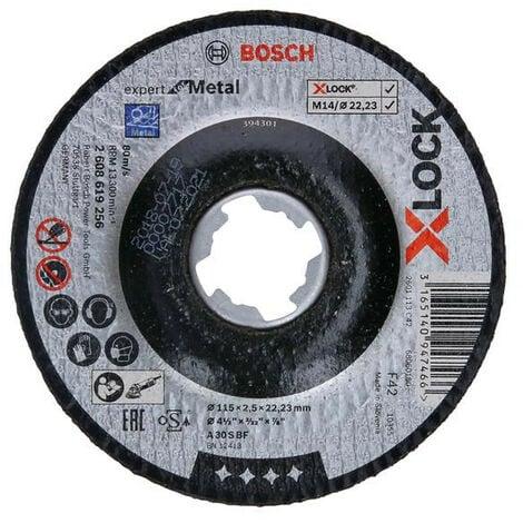 Bosch BSH619256 X-LOCK Expert for Metal Depressed Centre Cutting Disc 115 x 2.5 x 22.23mm