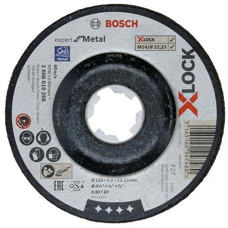 Bosch BSH619258 X-LOCK Expert for Metal Depressed Centre Grinding Disc 115 x 6 x 22.23mm