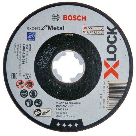 Bosch BSH619259 X-LOCK Expert for Metal Depressed Centre Grinding Disc 125 x 6 x 22.23mm