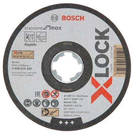 "main image of ""Bosch X-Lock 125mm Thin Cutting Discs (Tin 10)"""