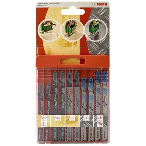 BOSCH Coffret 10 lames scie sauteuse bois métal alu - 2609258746