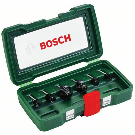Bosch Coffret de 6 fraises au carbure (queue Ø 6 mm)