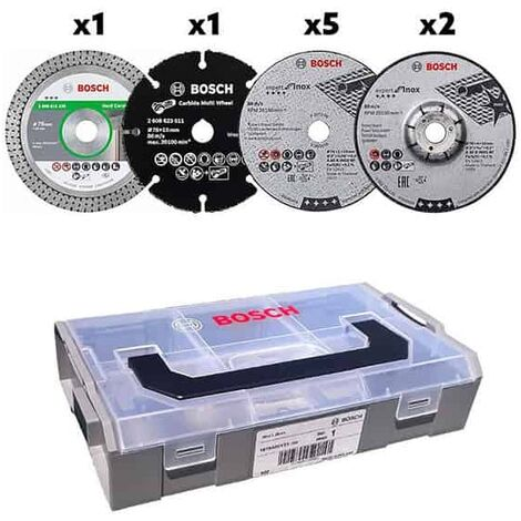 BOSCH Coffret mini L-Boxx + 9 disques Ø76mm - 06159975VC