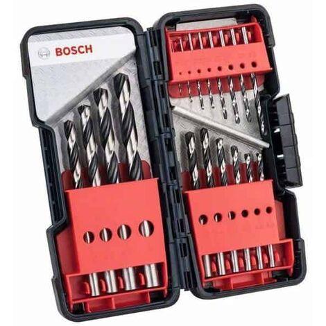BOSCH Coffret ToughBox 18 forets métaux HSS PointTeQ - 2608577350