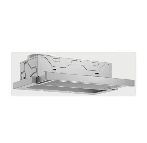 BOSCH DFM064A51-Hotte tiroir telescopique-Evacuation / recyclage-420 m3 air / h-59 dB max-A-4 vitesses-L 60 cm-Inox