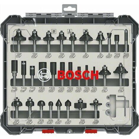 Bosch DIN EN-847 Kit: Fraises mixtes, 6 mm - 30 pcs. ( 2607017474 )
