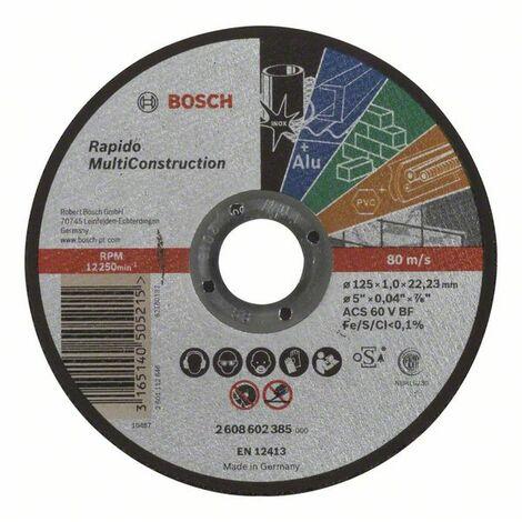 BOSCH - Disco corte recto Rapido Multi Construction 115 mm 1,0 mm