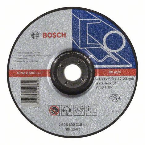 Disco de desbaste acodado Standard for Metal Bosch 2 608 603 183 A 24 P BF 6,0 mm 22,23 mm pack de 1 180 mm