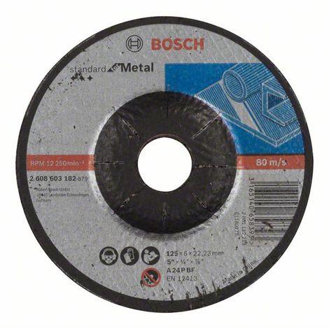 BOSCH - Disco desbaste Standard Metal A 24 P BF, 115, 22,23, 6,0