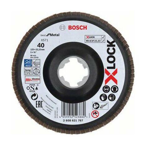 BOSCH Disque à lamelles déportés X-LOCK X571 125mm - Best for Metal