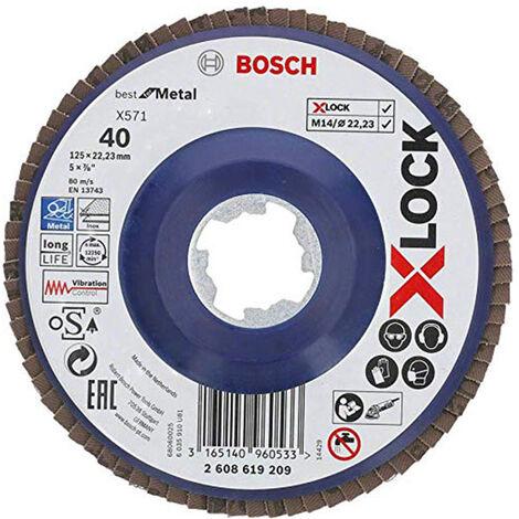 BOSCH Disque à lamelles plats X-LOCK X571 125mm - Best for Metal