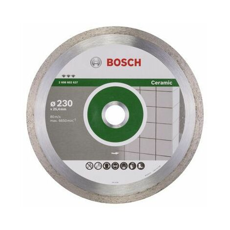 Bosch Disque à tronçonner diamanté Best for Ceramic, 230 x 25,40 x 2,4 x 10 mm - 2608602637