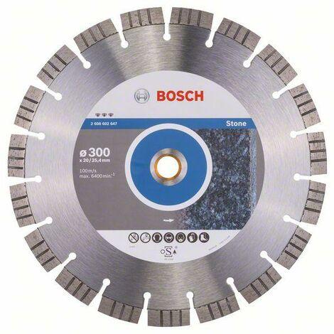 Bosch Disque à tronçonner diamanté Best for Stone, 300 x 20,00+25,40 x 2,8 x 15 mm - 2608602647
