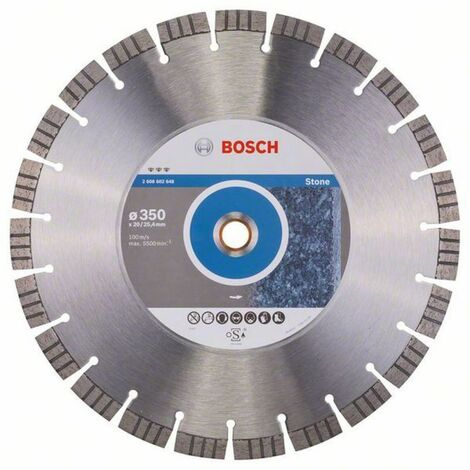 Bosch Disque à tronçonner diamanté Best for Stone 350 x 20,00/25,40* x 3.2 x 15