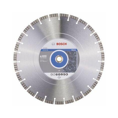 Bosch Disque à tronçonner diamanté Best for Stone, 400 x 20,00+25,40 x 3,2 x 12 mm - 2608602649