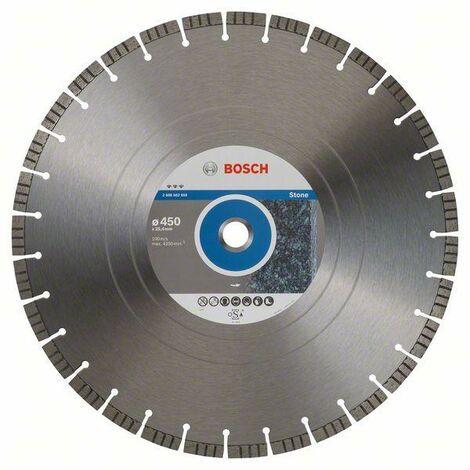 Bosch Disque à tronçonner diamanté Best for Stone, 450 x 25,40 x 3,8 x 12 mm - 2608602650