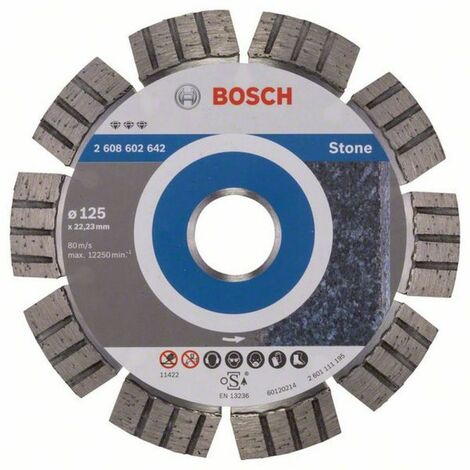 BOSCH Disque à tronçonner diamanté Best for Stone (pierre)