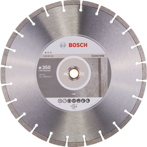 """main image of """"Bosch Disque à tronçonner diamanté Standard for Concrete, 350 x 20,00+25,40 x 2,8 x 10 mm - 2608602544"""""""